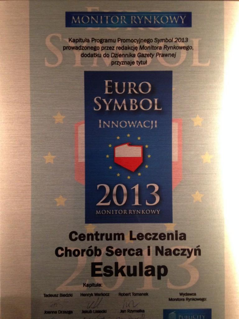 Certyfikat EuroSymbol Innowacji 2013