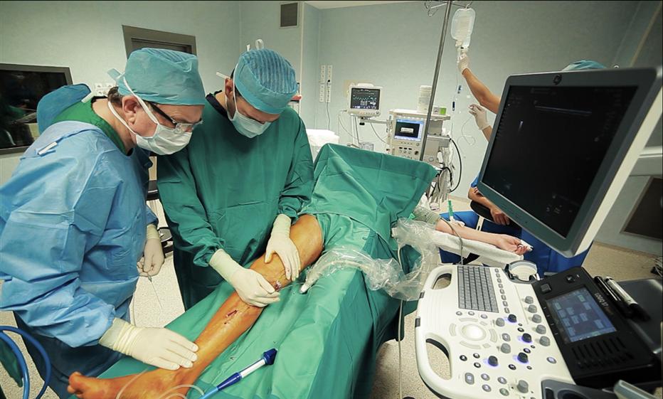dr Molski i dr Milleret w trakcie zabiegu SVS