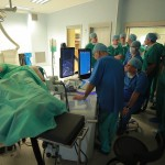 sala operacyjna w trakcie operacji raka prostaty metodą HIFU