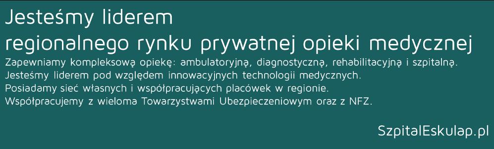 Oferty Pracy - Szpital Eskulap w Osielsku k. Bydgoszczy
