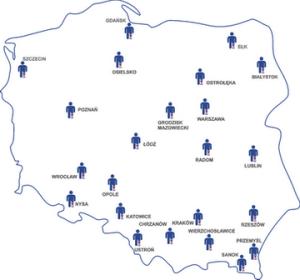 mapa ośrodków chirurgii naczyniowej