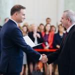 Wręczenie nominacji przez Prezydenta Dudę. foto: Eliza Radzikowska-Białobrzewska/KPRP