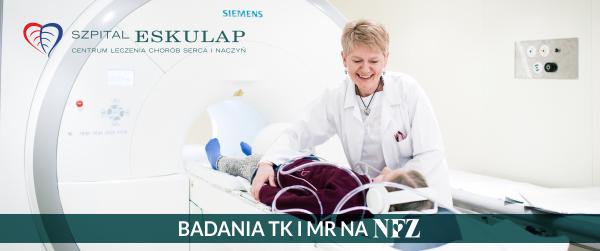 Umowa z NFZ na badania MR i TK